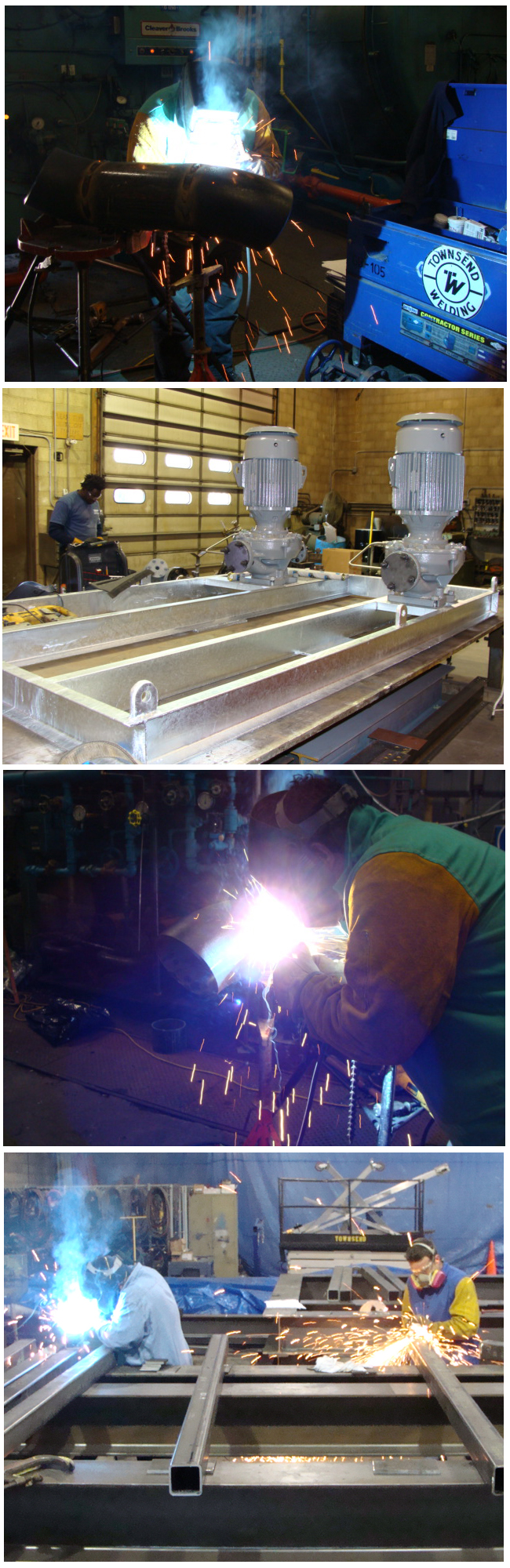 TW - Townsend Welding - The Townsend Group - fabrication and product manufacturing takes place at the Townsend welding facility in Wilmington, Ma. Piping fabrication, structural metals, packaged skids, Hygienic Stainless Sump Tanks, Stainless Condensate tanks and custom equipment.